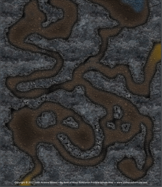 Big boof of maps for tabletop rpg map of a cavern preview